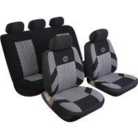 Car Seat Cover Precision - Set - Black/Grey 14402 REZISTANZ