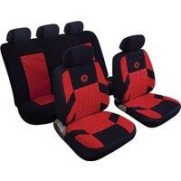 Car Seat Cover Precision - Set - Black/Red 14406 REZISTANZ