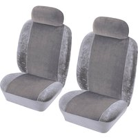 Car Seat Cover Heritage - Front Pair - Grey 1785002 COSMOS