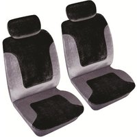 Car Seat Cover Heritage - Front Pair Black & Grey 1785003 COSMOS