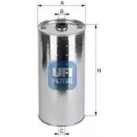 2002000 UFI Oil Filter Oil Cartridge