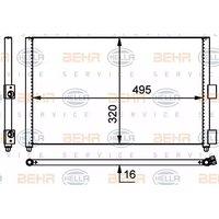 Condenser Air Conditioning 8FC351301-701 by BEHR