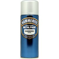 Direct To Rust Metal Paint - Hammered Silver - 400ml 5084783 HAMMERITE