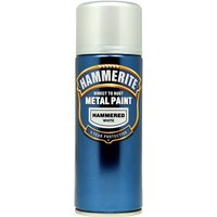 Direct To Rust Metal Paint - Hammered White - 400ml 5084784 HAMMERITE