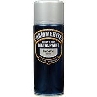 Direct To Rust Metal Paint - Smooth Silver - 400ml 5084785 HAMMERITE