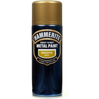 Direct To Rust Metal Paint - Smooth Gold - 400ml 5092831 HAMMERITE