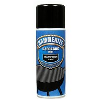 BBQ Paint Aerosol - Matt Black - 400ml 5092865 HAMMERITE