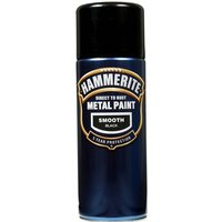 Direct To Rust Metal Paint - Smooth Black - 400ml 5092965 HAMMERITE