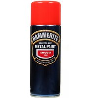Direct To Rust Metal Paint - Smooth Red - 400ml 5092967 HAMMERITE