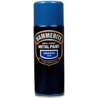 Direct To Rust Metal Paint - Smooth Blue - 400ml 5092970 HAMMERITE