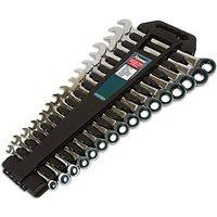 Kamasa 55774 Spanner Set Ratchet Ring 16pc Made from Chrome Vanadium