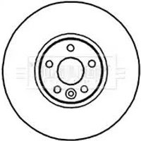 Pair of Brake Discs BBD5903S by Borg & Beck Front