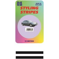 Double Stripe - Black - 2mm - 10m Length- CASTLE PROMOTIONS- CPS03BK