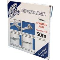 7mm Multiband Banding S/S - 50 Metre Dispenser MB1602 JUBILEE