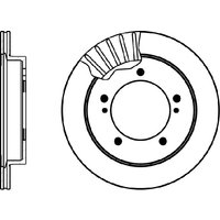 Mintex MDC1014 Pair Of Vented front Brake Disc
