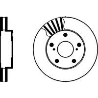 Mintex MDC1015 Pair Of Vented front Brake Disc