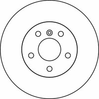 Mintex MDC1445 Pair Of Vented front Brake Disc