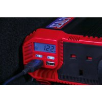 SEALEY PI1500 | Power Inverter Modified Sine Wave 1500W 12V DC - 230V 50Hz