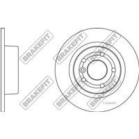 Brake Discs Pair Solid Rear BRAKEFIT SDK6170
