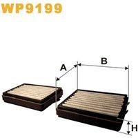 Wix WP9199 Car Cabin Air Pollen Filter - Carbon (2pcs)