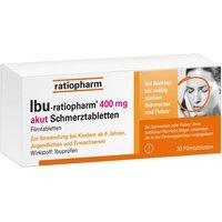 Ibu-ratiopharm 400 mg akut Schmerztbl.Fi 20 St