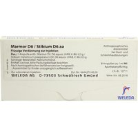Marmor D 6/stibium D 6 aa Ampullen 8 ml