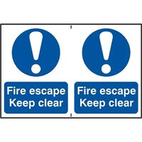 Notice Fire Escape Keep Clear