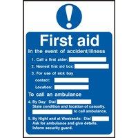 Notice First Aid Procedure