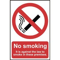 Vinyl No Smoking Notice 148x210mm