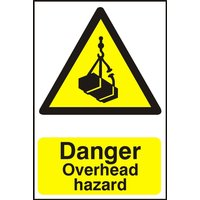 Notice Danger Overhead Hazard