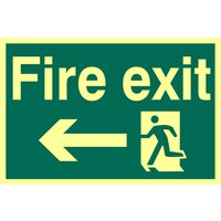 Fire Exit Left Glow In The Dark