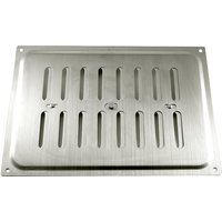 Brushed Stainless Steel Hit and Miss Vent 210x152mm