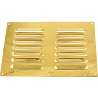 Brassed Louvre Slotted Vent 229x152mm