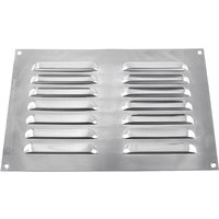 Brushed Stainless Steel Slotted Vent 229x152mm