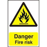 Notice Danger Fire Risk
