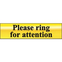 Polished Gold Style Please Ring Sign