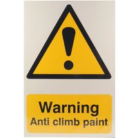 Notice Warning Anti Climb Paint