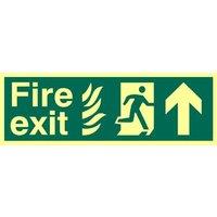 Fire Exit Arrow Up Glow In The Dark