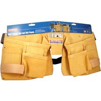 Leather Nail & Tool Pouch Double Pocket