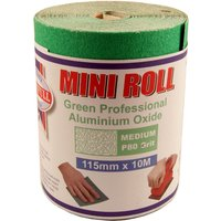 Green Sand Paper Roll 80 Grit 115mmx10M