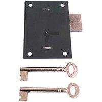 Black Straight Cabinet Lock 100mm