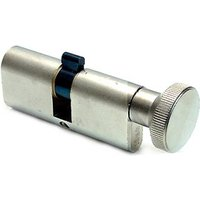 Iseo Oval Profile Cylinder with Thumbturn Nickel 35x35mm