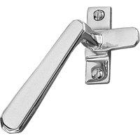 Art Deco Design Polished Chrome Window Handle Fastener Hook LH