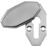 Art Deco Design Polished Chrome Covered Escutcheon 40x20mm
