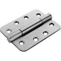 Matt Stainless Steel GR14 4x3in Heavy Duty Radiused Hinge In Pairs