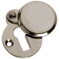 Polished Nickel Heavy Covered Keyhole Escutcheon 41x32mm