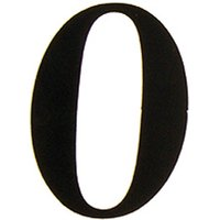 51mm Adhesive Black Door Numbers and Letters