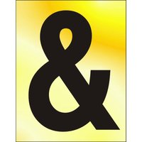Gold Effect Symbol Ampersand
