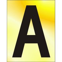 Gold Effect Letter A