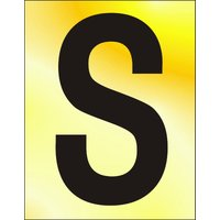Gold Effect Letter S
